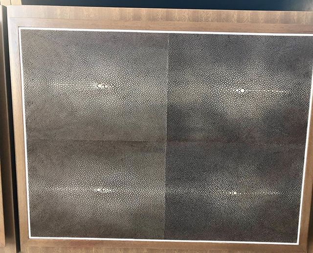 Happy Friday. We got our delivery of stingray shagreen door faces with a stainless inlay . . . Well done LECH PODGORSKI . . . .