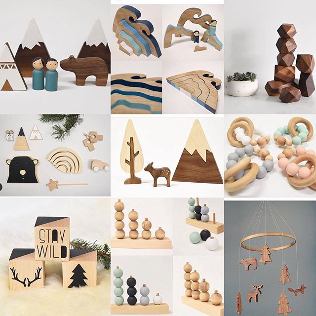 My extremely creative and talented better half pursuing her dreams of creating @trae_designs . All natural modern children's toys and home decor hand made in Squamish BC ( she also does custom ) . . . . . . . . .