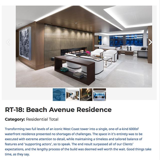 Some very tough competition for this years Shine awards but we're excited that the Beach Ave project designed by @aaron_mackenzie_moore is in 3 categories ( Residential total and the stairs and rotating screens for Speciality design ) .  The Interior Designers Institute of BC's Awards of Excellence 2018 Peoples' Choice Award Voting.  Voting is open to trades, Family, Friends, and the general public, so please help spread the word by forwarding this to others who you think would be interested. @idibc @idibcshineawards Category: Residential Total ( below is the link ) I believe you can only vote once so we're going to focus on the Residential Total ( LINK IN OUR PROFILE ) https://vote.idibc.org/entry/rt-18-beach-avenue-residence/ or go directly to https://vote.idibc.org . . . . . . .