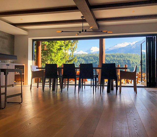 Dining Room Views. After a very long wait we finally got to install this fixture. Interior design by @project_22_design In calibration with @whistlercoastconstruction . . . . . . . . . .