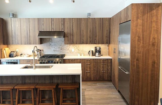 Beautiful Black Walnut kitchen. @daintreeindustries  . . . . . . . . . . . . . . . . . . . . . . . .              @whistlercoastconstruction